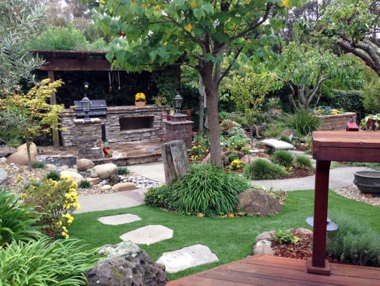 Artificial Grass Photos: Artificial Turf East Hemet, California Landscape Rock, Backyard Design