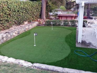 Artificial Grass Photos: Artificial Turf Installation Coachella, California Putting Green Turf, Backyards