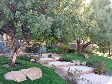 Artificial Grass Photos: Fake Grass Sun City, California Landscape Rock, Backyard Landscaping