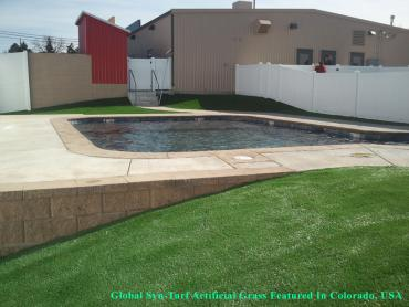Artificial Grass Photos: Grass Installation Indio, California Roof Top, Swimming Pool Designs